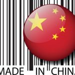 Made in China barcode. Vector illustration