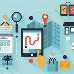 Mobile shopping  illustration concept